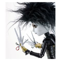 Taeyang - Edward Scissorhands : Pullipstyle ❤ liked on Polyvore featuring dolls, halloween, pullip and toys
