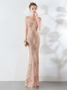 Stunning Sequins Mermaid Evening Gowns Long Sheer Top Prom Dress With Tassels - - Mermaid Evening Gown, Mermaid Prom Dresses, Homecoming Dresses, Evening Gowns, Summer Outfits Women, Party Dresses For Women, Matric Dance Dresses, Affordable Prom Dresses, Fashion 2020