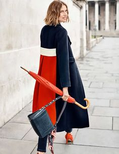 Farleigh Coat Coats at Boden Mode Mantel, Langer Mantel, Mein Style, Collar Designs, Mode Hijab, Colorful Fashion, Wool Coat, Types Of Sleeves, Coats For Women