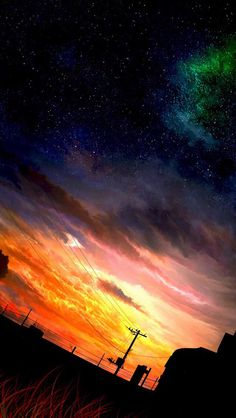 Anime Scenery Wallpaper, Sunset Wallpaper, Galaxy Wallpaper, Background Pictures, Art Background, Graphisches Design, Japon Illustration, Fantasy Landscape, Beautiful Landscapes