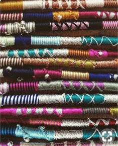 Embroidery Floss, Metal Charms and Beads Wraps