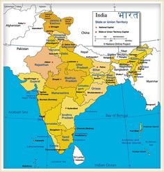 map of india with cities - Google Search