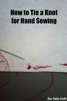 "If I was ever taught this, I don't remember it. I KNOW I was taught that there are ""no knots in embroidery"" . so, I learned several ways to fasten thread for needlepoint or cross stitch . but, for hand sewing (hexis for me) this is brilliant! Sewing Lessons, Sewing Class, Sewing Basics, Sewing Hacks, Sewing Tutorials, Sewing Tips, Sewing Ideas, Hand Sewing Projects, Sewing Projects For Beginners"
