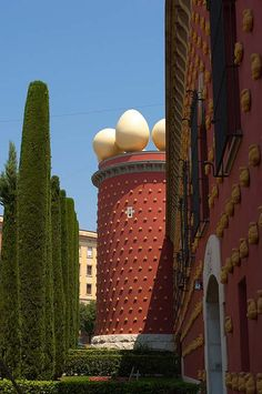 Dali Museum, Figueres, Spain. One of the best ways to explore Spanish Catalonia is by bike. Find out more about our self-guided cycling trips here: http://www.discoverfrance.com/spain/cycling-tours