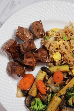 Hibachi Steak and Veggies - Kait's Kitchen Beef Recipes For Dinner, Grilling Recipes, Veggie Recipes, New Recipes, Favorite Recipes, Summer Recipes, Asian Recipes, Steak Sides, Dining