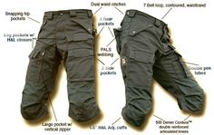 tactical pants. snap pocket flaps, all the pockets, articulated knees, expandable rear pockets, snap fly, velcro front pockets, wide belt loops
