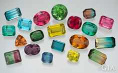 Tourmaline comes in many different colors.
