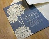 SAMPLE Pocketfold Lavender and Rosemary Wedding Invitation. $3.00, via Etsy.