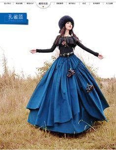 2014 New Designer Corduroy Vintage Irregular Fashion Maxi Long skirt