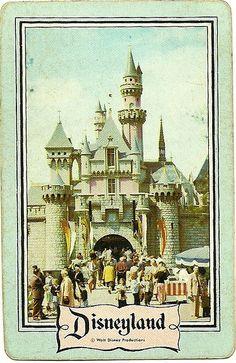 Vintage Disneyland Playing Card