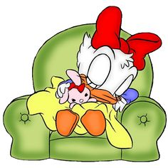 Daisy Duck is a cartoon character created in 1940 by Walt Disney Productions as the girlfriend of Donald Duck.