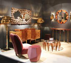 A gallery ambience. JSB #insidherland #jsb #gallery #art #design #exclusiveword #interiors #decor #unique #grey #luxuryinteriors #luxuryliving #paris #rock #stool #sideboard #lighting #mirror #brass #wood #luxurycraft #handmade