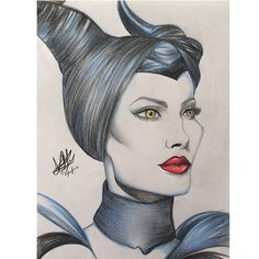 Maleficent  #maleficent #angelinajolie #disney #drawing #art #colour #maléfica