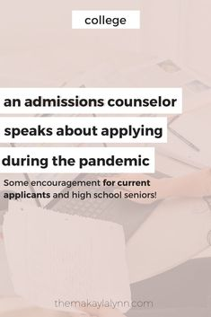 A College Admissions Counselor Talks About Applying During COVID-19.   Have anxiety surrounding your college application? Let's chat about what you're up against and why you shouldn't fear the unknown during this pandemic.