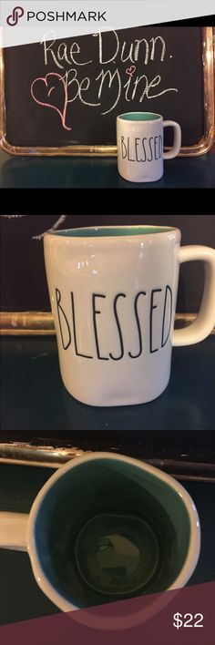 Selling this New Rae Dunn Blessed Mug on Poshmark! My username is: gitasan. #shopmycloset #poshmark #fashion #shopping #style #forsale #Rae Dunn #Other