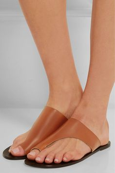 ATP Atelier- Rosa slip-on sandals in camel leather