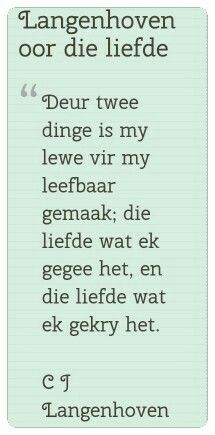 Afrikanse bekendes♡ I Love My Hubby, My Love, Afrikaanse Quotes, Love Quotes, Inspirational Quotes, True Words, Beautiful Words, Favorite Quotes, Verses