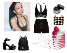 """""""black doesnt need words"""" by altrisa-mulla ❤ liked on Polyvore featuring MICHAEL Michael Kors, Lipsy, River Island and House of Harlow 1960"""