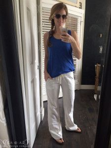 8 favorite outfits for summer - linen pants, tank + flip flops / jones design company