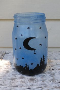 Hand Painted Mason Jar Luminary! by ToastyBarkerBoutique on Etsy