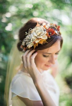 RESERVED: fall flower crown by thehoneycomb on Etsy