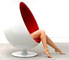 SALE Lexington Modern LexMod Eero Aarnio Style Ball Chair in Red, Futuristic Furniture, Modern Interior, Futuristic Interior Futuristic Interior, Futuristic Furniture, Modern Interior, Ball Chair, Egg Chair, Home Furniture, Furniture Design, Chair Design, Classic Furniture