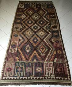 Exklusiv Original Alt Afghan Maimana Kelim Teppich Old Rug Carpet Tapis Alfombra   eBay