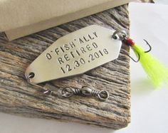 Personalized Retirement Gift for Husband Custom Retirement Gift Boss Fishing Lure Retired Grandparent Retiree Gift Idea Retirement Gift Dad