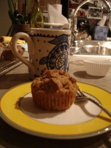 Teff/Amaranth apple muffins