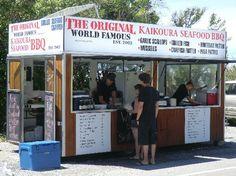 Kaikoura Seafood BBQ Kiosk Restaurant Reviews, Kaikoura, New Zealand - lunch option Bbq Menu, Kiosk Design, Grilled Fish, South Island, Nya Zeeland, Seafood Bbq, Trip Advisor, Restaurant, How To Plan