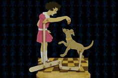 Girl Playing With Dog Wooden Toy Kinetic Toys, Kinetic Art, Kids Toys For Boys, Gifts For Kids, Woodworking Skills, Learn Woodworking, Toys From Trash, Making Wooden Toys, Best Educational Toys