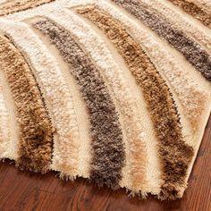 safavieh handwoven silken embossed beige shag rug 4u0027 x