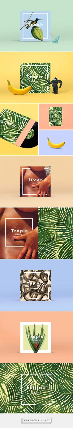 Tropic Covers For Hot Tropical Mixtapes Designed by Don't Try Studio