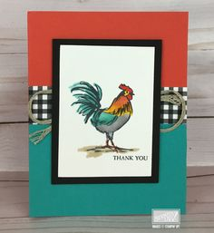 Card Making Inspiration, Making Ideas, Stampin Up Canada, Home To Roost, Hand Stamped Cards, Chickens And Roosters, Bird Cards, Stamping Up Cards, Animal Cards