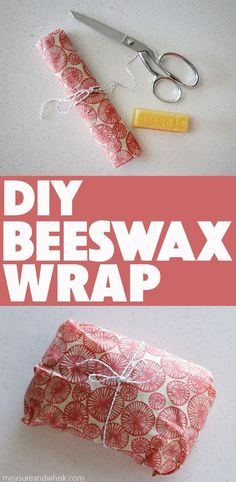 Easy DIY Beeswax Wrap + Video Tutorial #ecofriendly #recyclingfacts