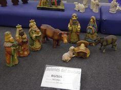 Nativity Set from Russia -photo from travelocafe:  Nativity Scenes From Around The World