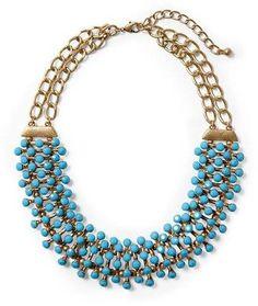 Pim Larkin Turquoise Statement Necklace Pim