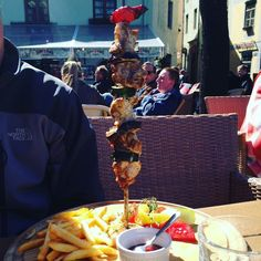 thatchillaxdude.com #thatchillaxdude  I don't know why I don't eat more skewered foods!   #travel #instatravel #worldtravel #walkabout #wanderlust #travelfood #skewered #foodporn #instafood #cheatdayeveryday | #namejs #riga #latvia #rigaoldtown