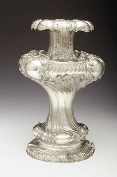 Continental Silver Vase, late 19th c.