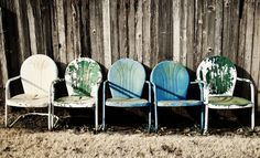 Generations..  | #rust #weathered #vintage #chairs