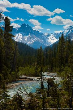 Rocky Mountains seen from Yoho National Park, British Columbia, Canada