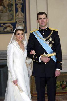 #Mariages royaux: #Letizia #Ortiz et le #prince #Felipe d' #Espagne. Photo: Getty Images