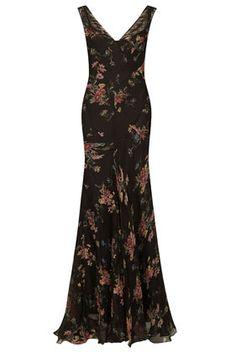 **Maxi robe en mousseline à fleurs - Topshop