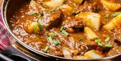 Slow Cooker Chunky Beef & Potato Stew
