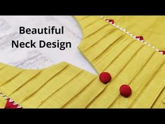 PINTUCK /PINTEX NECK DESIGN FOR PLAIN KURTI EASY CUTTING AND STITCHING || KURTI FRONT NECK DESIGN - YouTube Salwar Suit Neck Designs, Churidar Designs, Kurta Neck Design, Neck Designs For Suits, Neckline Designs, Dress Neck Designs, Sleeve Designs, Plain Kurti, Design Youtube