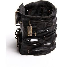 black large road warrior cuff (880 BRL) ❤ liked on Polyvore featuring jewelry, bracelets, accessories, black, cuff, women, cuff bangle, copper chain jewelry, copper bangles and cuff jewelry