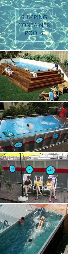 To Build Your Own Shipping Container Home Shipping Container Pool's.What a great alternative to traditional pools .What a great alternative to traditional pools . Building A Container Home, Container Cabin, Storage Container Homes, Container Buildings, Container Architecture, Container House Plans, Container Design, Garden Architecture, Storage Containers