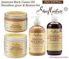 //SALE// Shea Moisture Jamaican Black Castor Oil 4pc Set - Free Shipping to Canada http://www.aonebeauty.com/shea-moisture-jamaican-black-castor-oil-4pc-set-free-shipping/ #sheamoisture #castoroil #sale #naturalhair #conditioner #haircare SheaMoisture