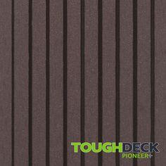 Chocolate Brown Wood Grain WPC Decking Board - Pioneer+ Wpc Decking, Composite Decking, Pioneer Decks, Wood Grain Texture, Brown Wood, One Sided, Chocolate Brown, Grains, Board