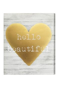 Hello Beautiful 16x20 Canvas Wall Art